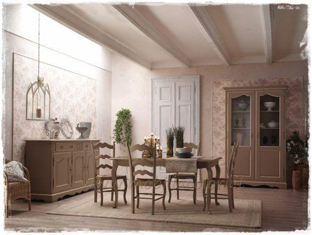 Soggiorno stile #provenzale, perfetti i colori grigio e avorio ...