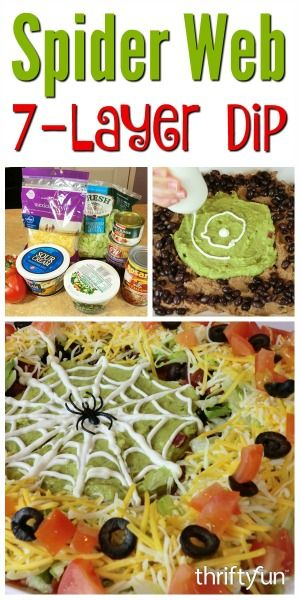 Spider Web Layered Taco Dip Recipes