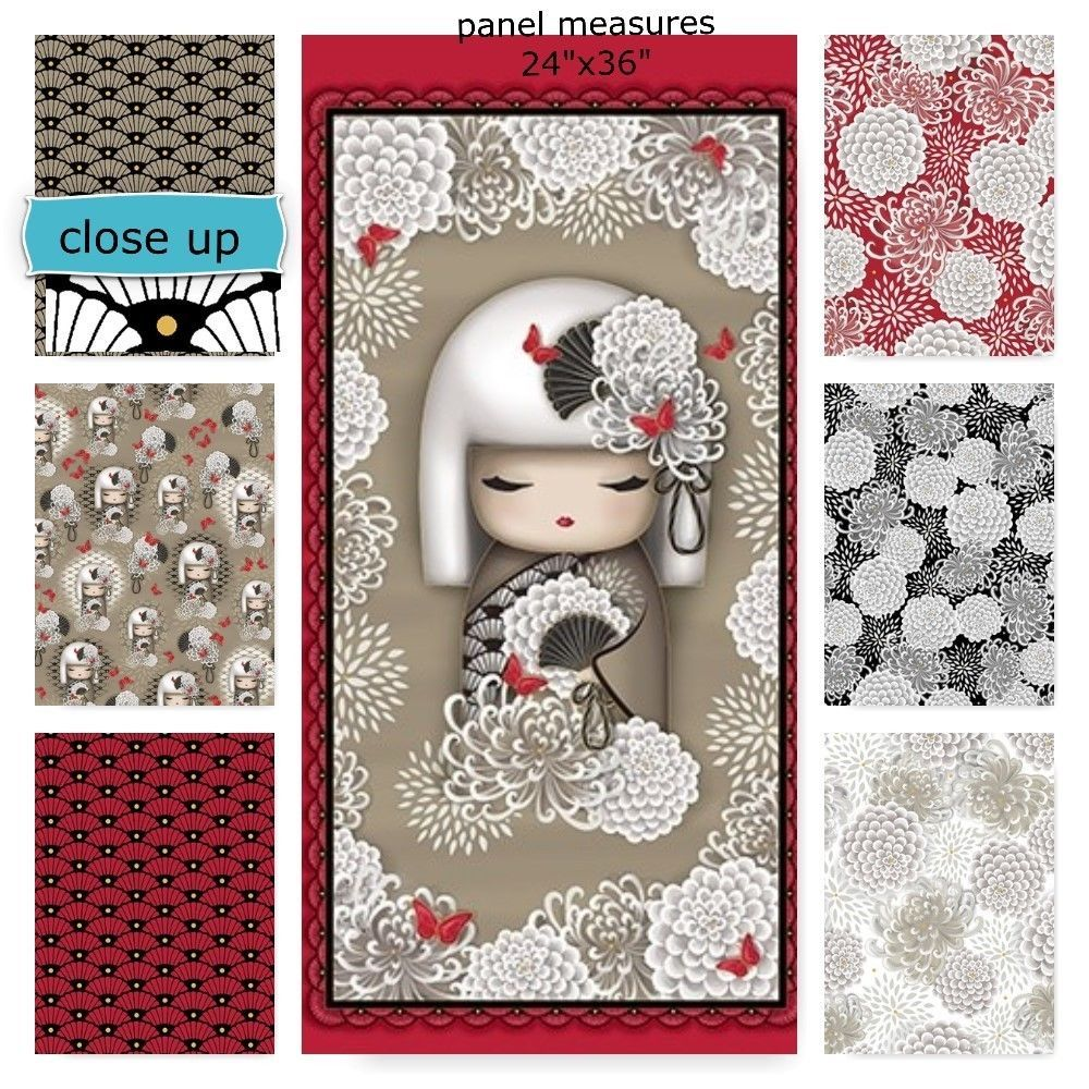 YORIKO Dependable Kimmi Doll Asian Cotton Fabric Collection ... : quilted treasures - Adamdwight.com