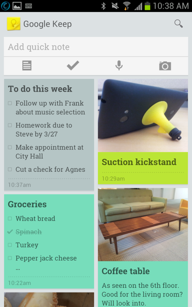 Google Keep for Android is here (pictures) Google keep