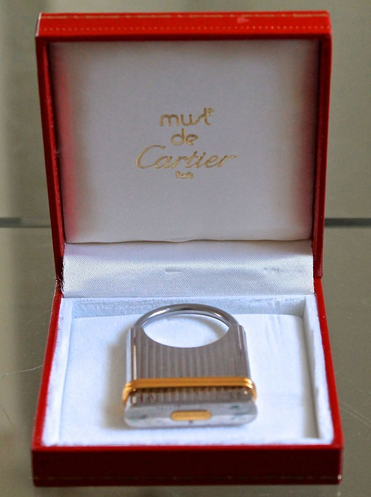 CARTIER TRINITY KEY RING BANDS SILVER GOLD PLATED VINTAGE1980'S #CARTIER