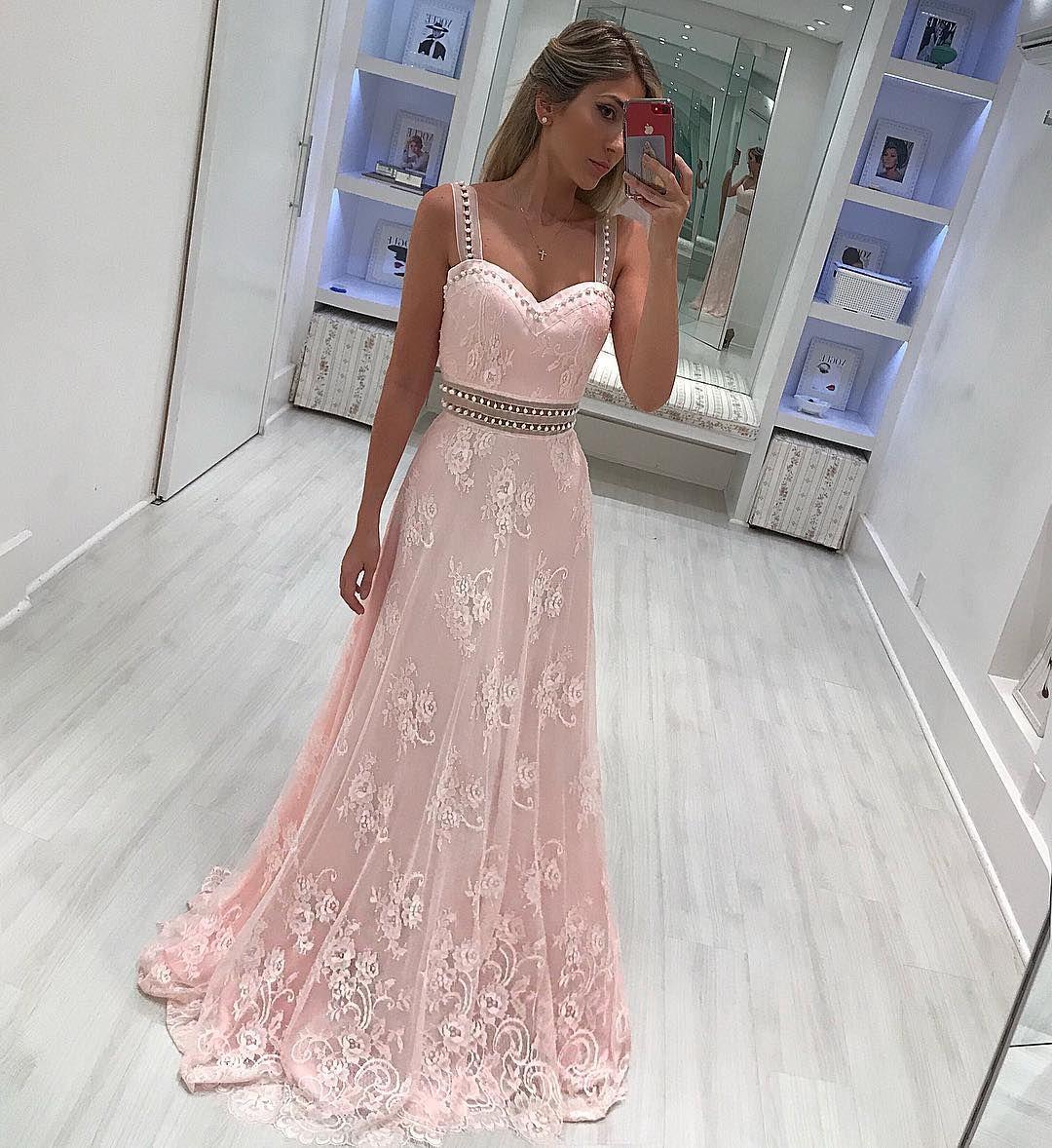 elegante abendkleider lang mit spitze rosa abendmoden kaufen