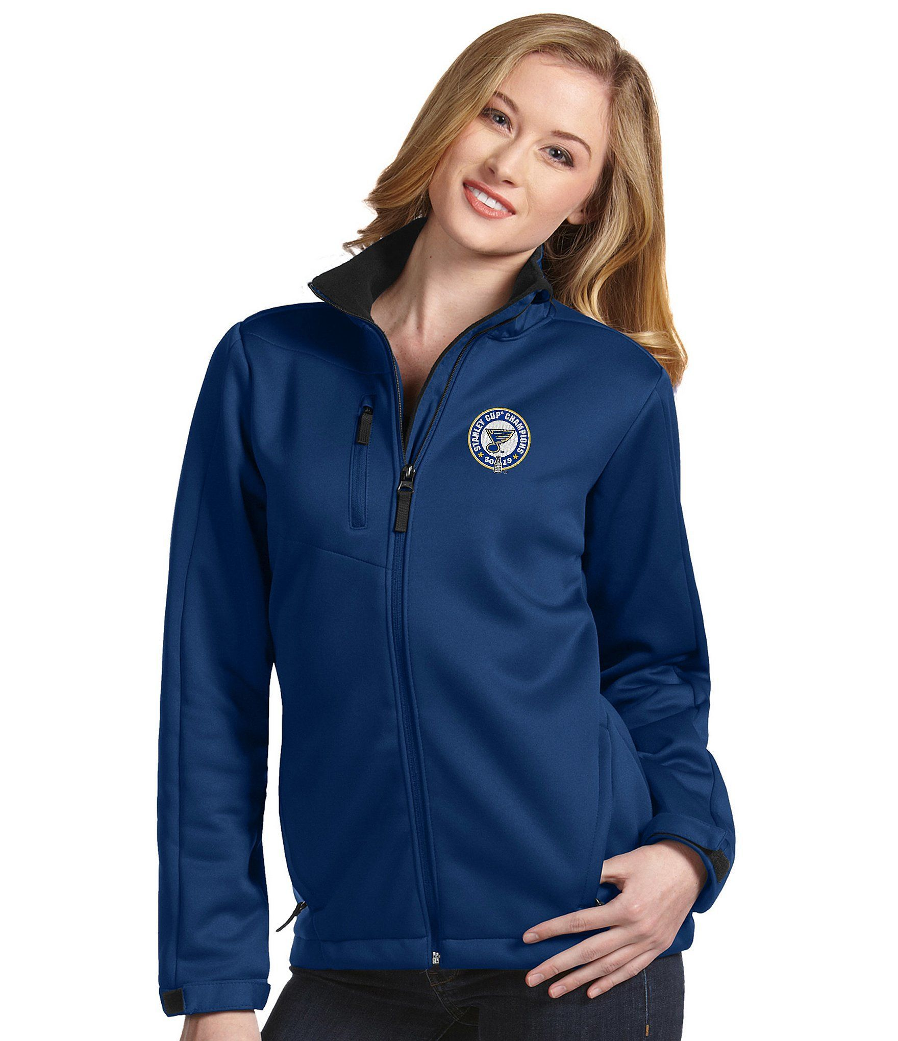 Women's jacket with full zip water resistant NHL Stanley Cup Champions St. Louis Blues Tr... Wo