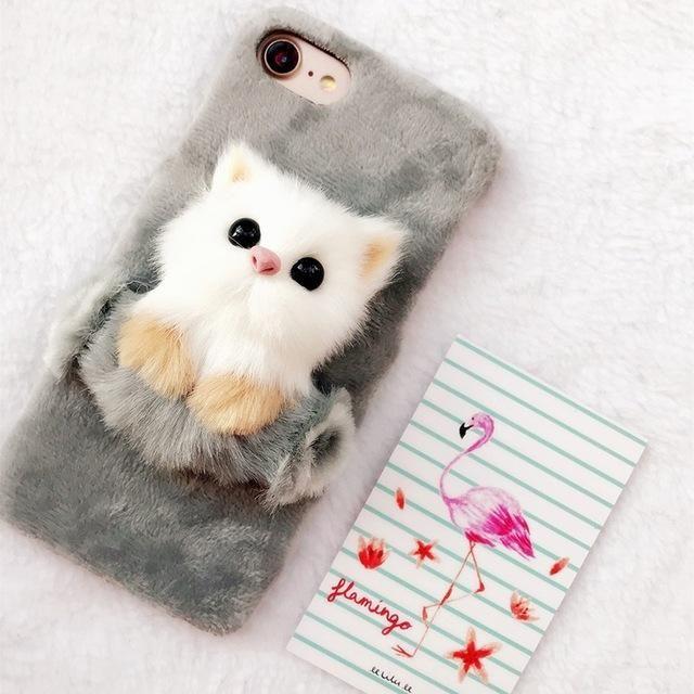 best sneakers 95637 60cf6 Christmas Cute Cat Case for iPhone X 5 SE 6 6s 6splus 7 8 Plus Soft ...