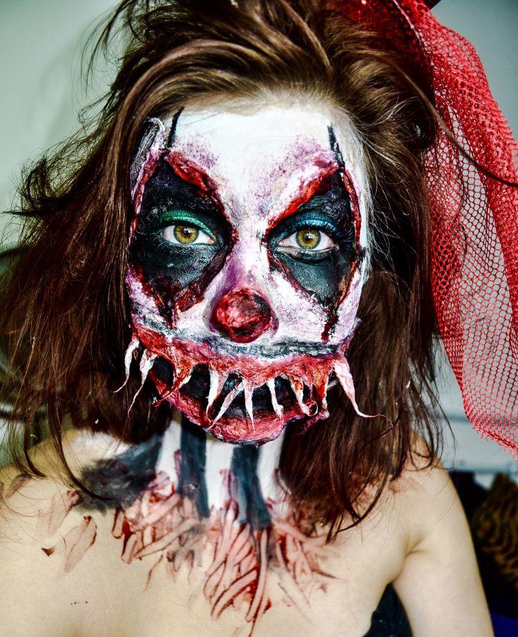 Horror Clown Halloween Makeup Halloween makeup, Sfx makeup and - clown ideas for halloween