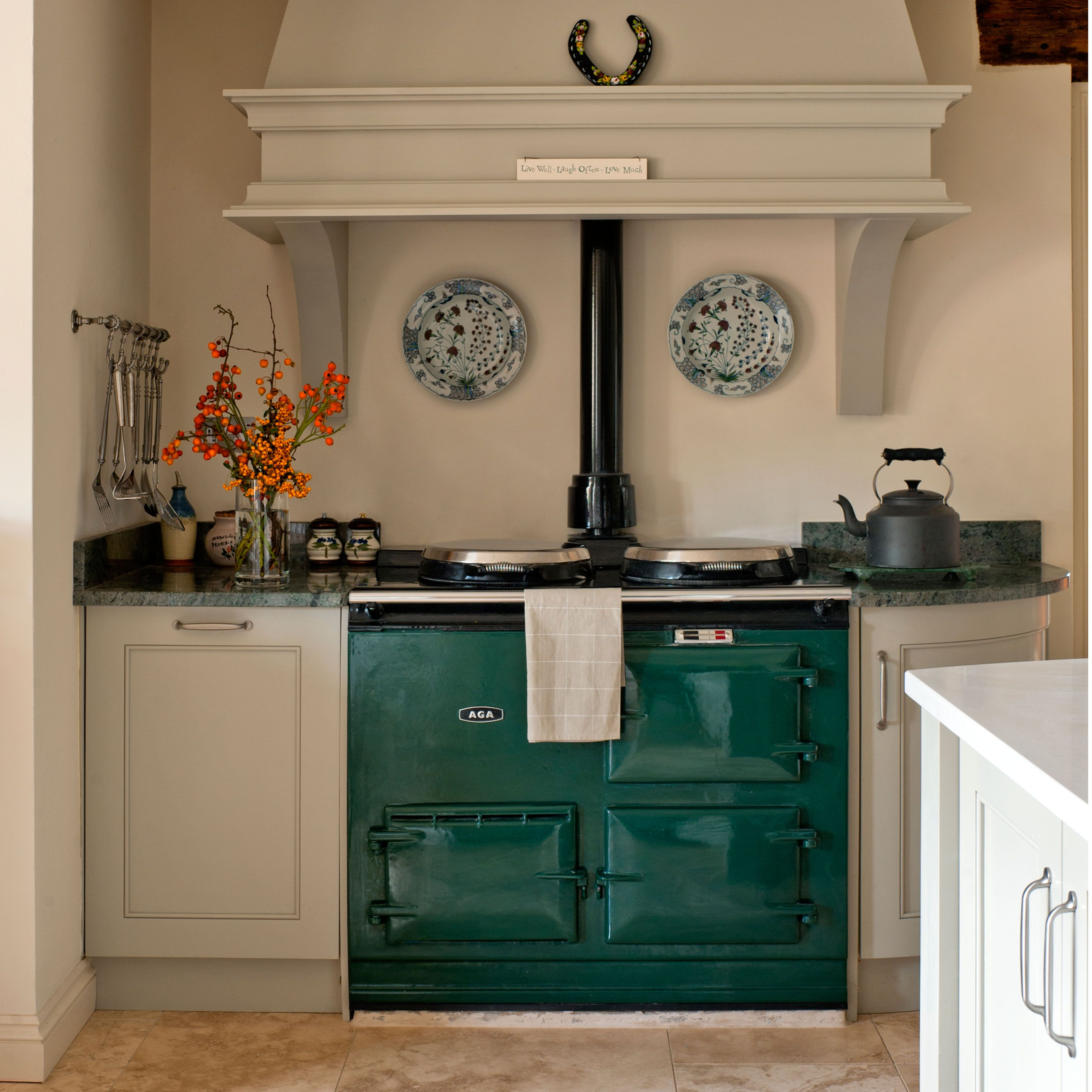 image result for green aga kitchen ideas country kitchen range cooker kitchen timeless kitchen on kitchen ideas emerald green id=75936