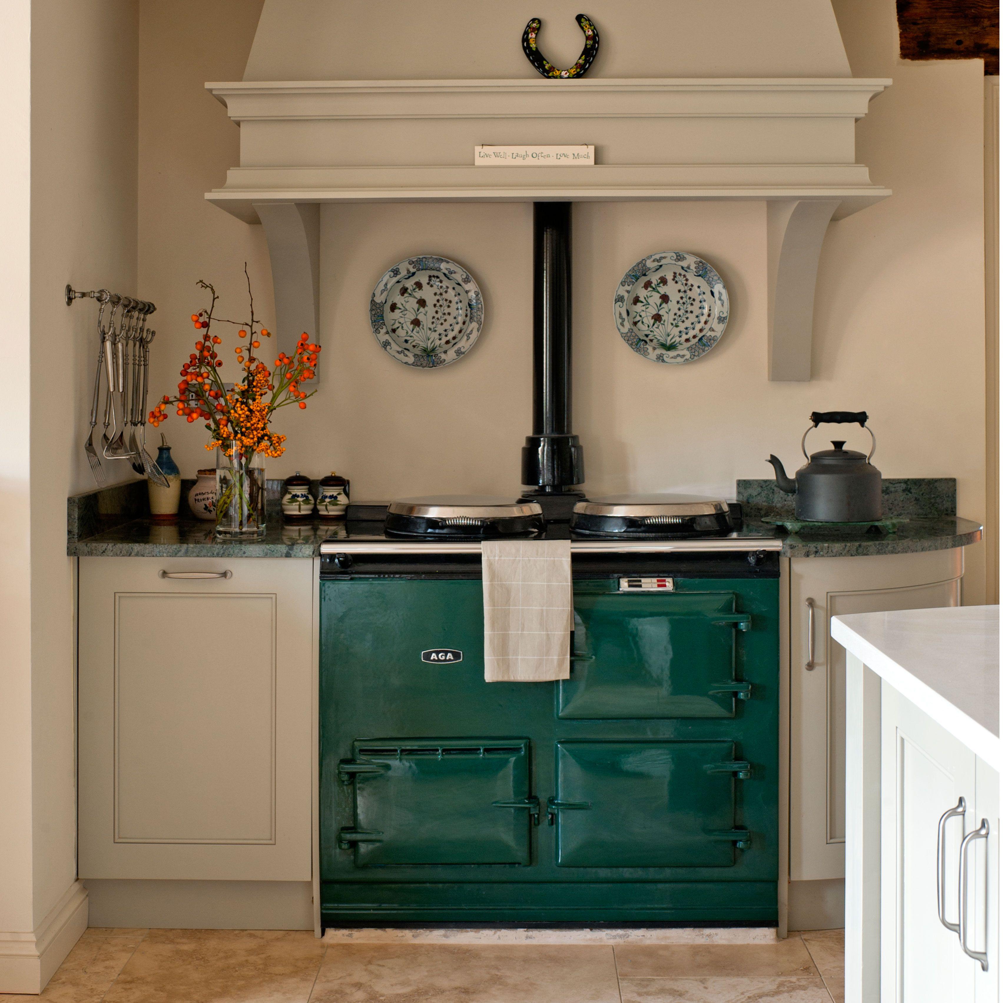 Image Result For Green Aga Kitchen Ideas West Corner Range