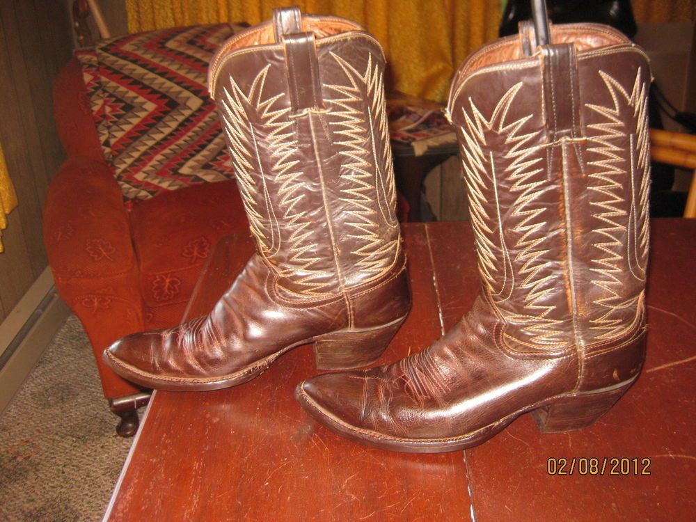 COOL VINTAGE 60s MENS FANCY STITCHED URBAN COWBOY BOOTS 11 1/2 #VINTAGE #CowboyWestern