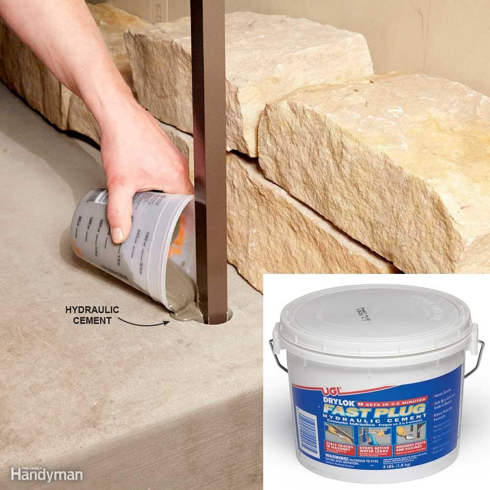 Hydraulic Cement Prevents Cracking When You're Fastening