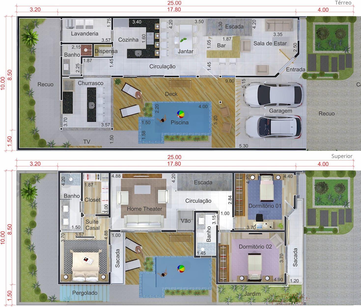 L en el diseño de planta con espacio gourmet. Plano para terreno ...