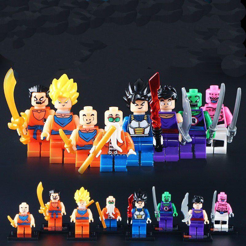 Dragonball Z Dragon Ball Goku Vegeta Piccolo Dbz Minifigure Lego Compatible Toy Dragon Ball Z Lego Dragon Dragon Ball