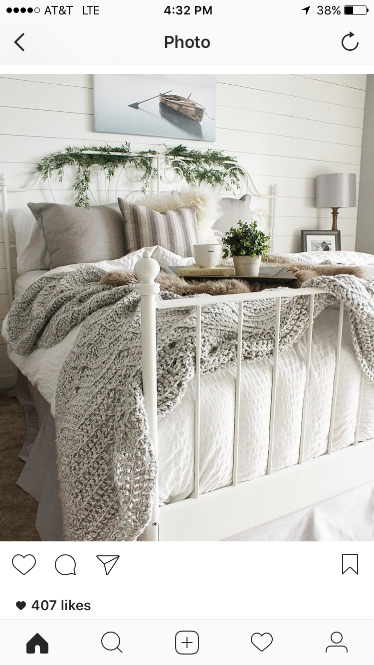 Cozy Bedroom Ideas Instagram Bloomingdiyer Love The Shiplap And Cozy Bedroom Decor