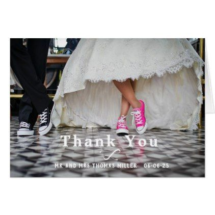Photo Wedding Thank You Note Card  Note Cards Wedding And Card