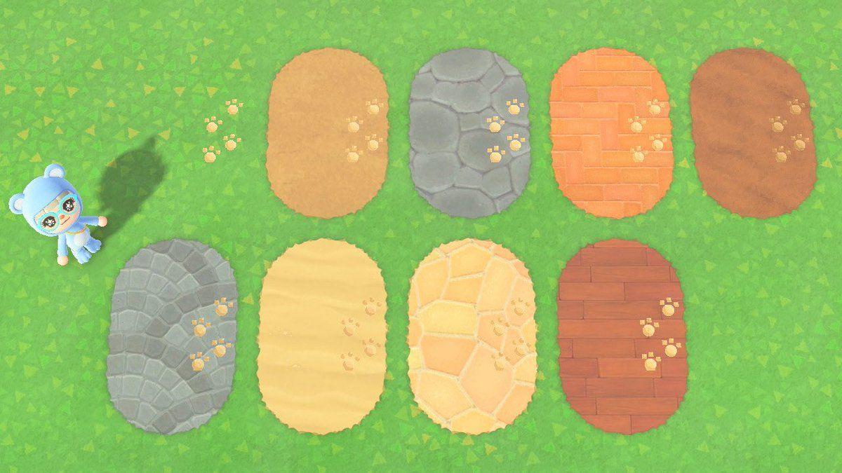 足跡 あつまれどうぶつの森 マイデザイン