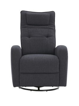 Erin Manual Recliner Fabric Swivel Chair - for Alexei's room