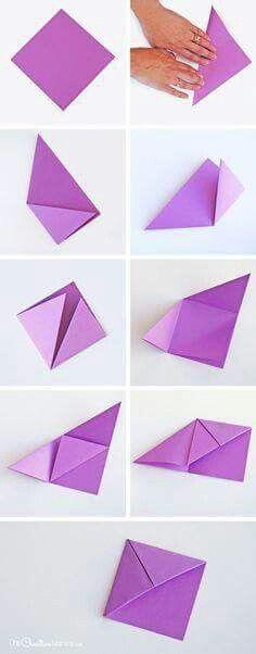 Postup zalozka | Bookmark craft, Diy origami, Origami crafts