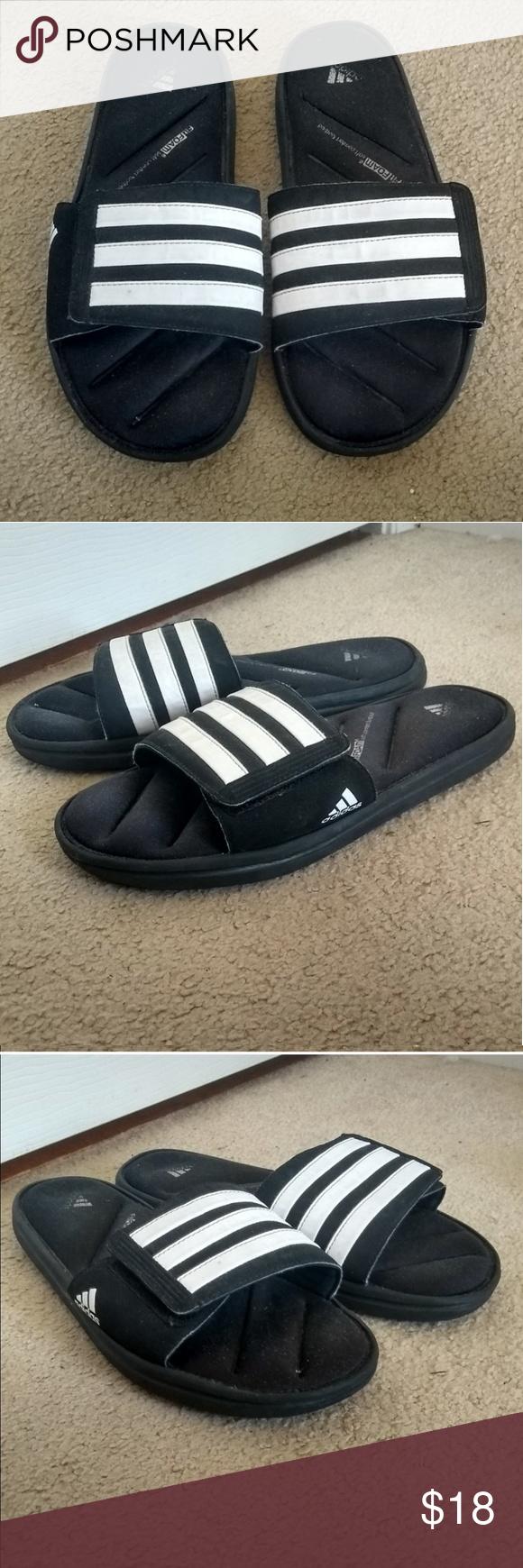adidas cushioned slides ☁️ | Velcro