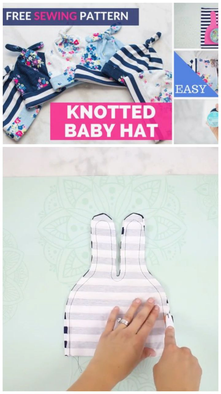 Learn to Sew a Top Knot Baby Knit Hat#baby #hat #knit #knot #learn #sew #top