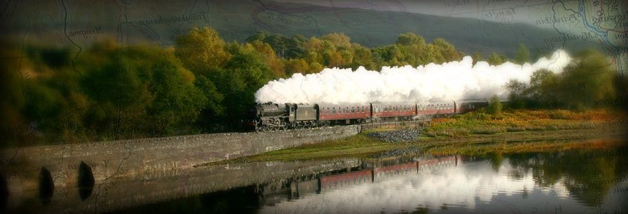The world's greatest railway journey by steam in Harry Potter style coaches – Fort William to Mallaig.