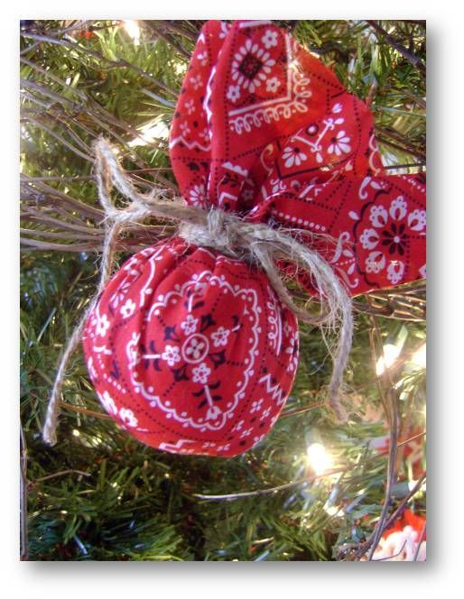 western christmas ornament use green bandanas for 4 h tree