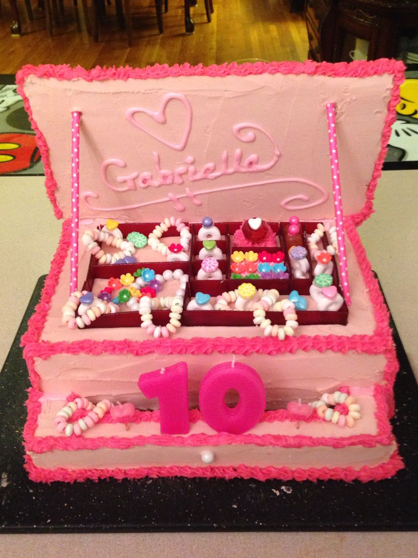Jewelry Box Cake Made For Gabriellas 10th Birthday Bd Party