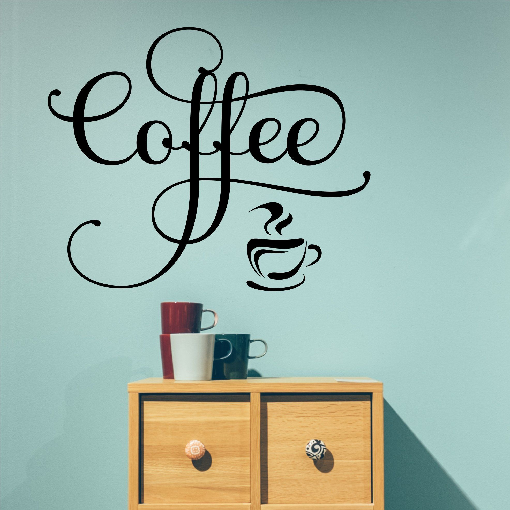 kitchen wall decal fancy coffee word farmhouse lettering vinyl wall lettering vinyl wall art on kitchen decor quotes wall decals id=68170