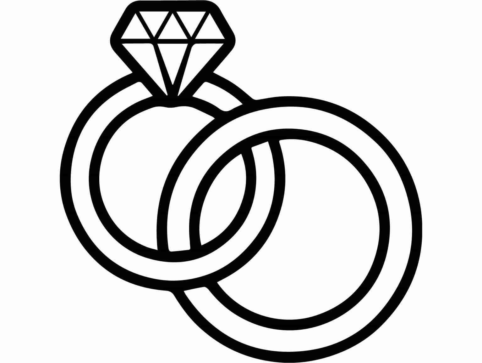 Drawing Wedding Rings Linked Together Wedding Ring Drawing Wedding Ring Clipart Wedding Rings Sets Gold