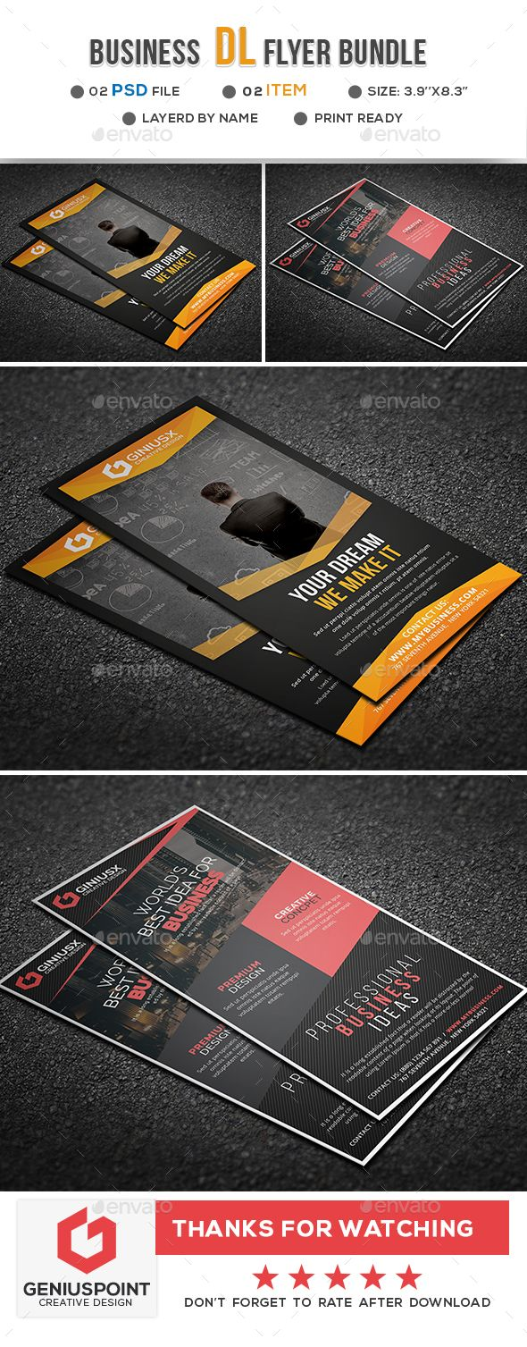Business Dl Flyer Bundle Flyer Template Template And Business