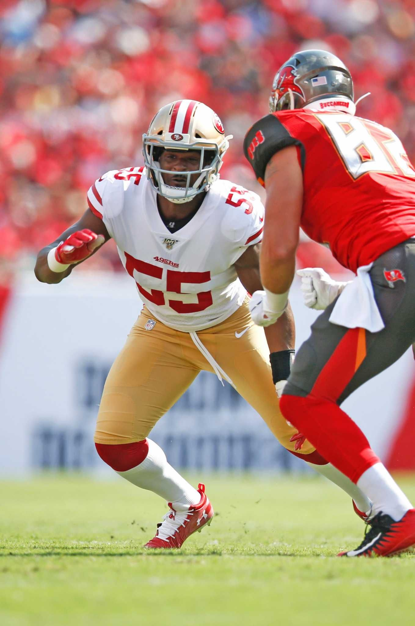 Despite Rest 49ers Defensive Lineman Dee Ford Hasn T Nfl Football 49ers 49ers Players 49ers