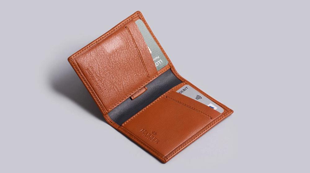 T.M.Lewin Mens Leather Cardholder Black