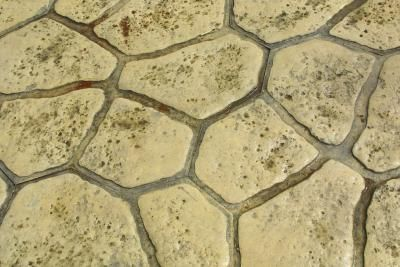 how to paint a cement floor to look like rock concrete floor