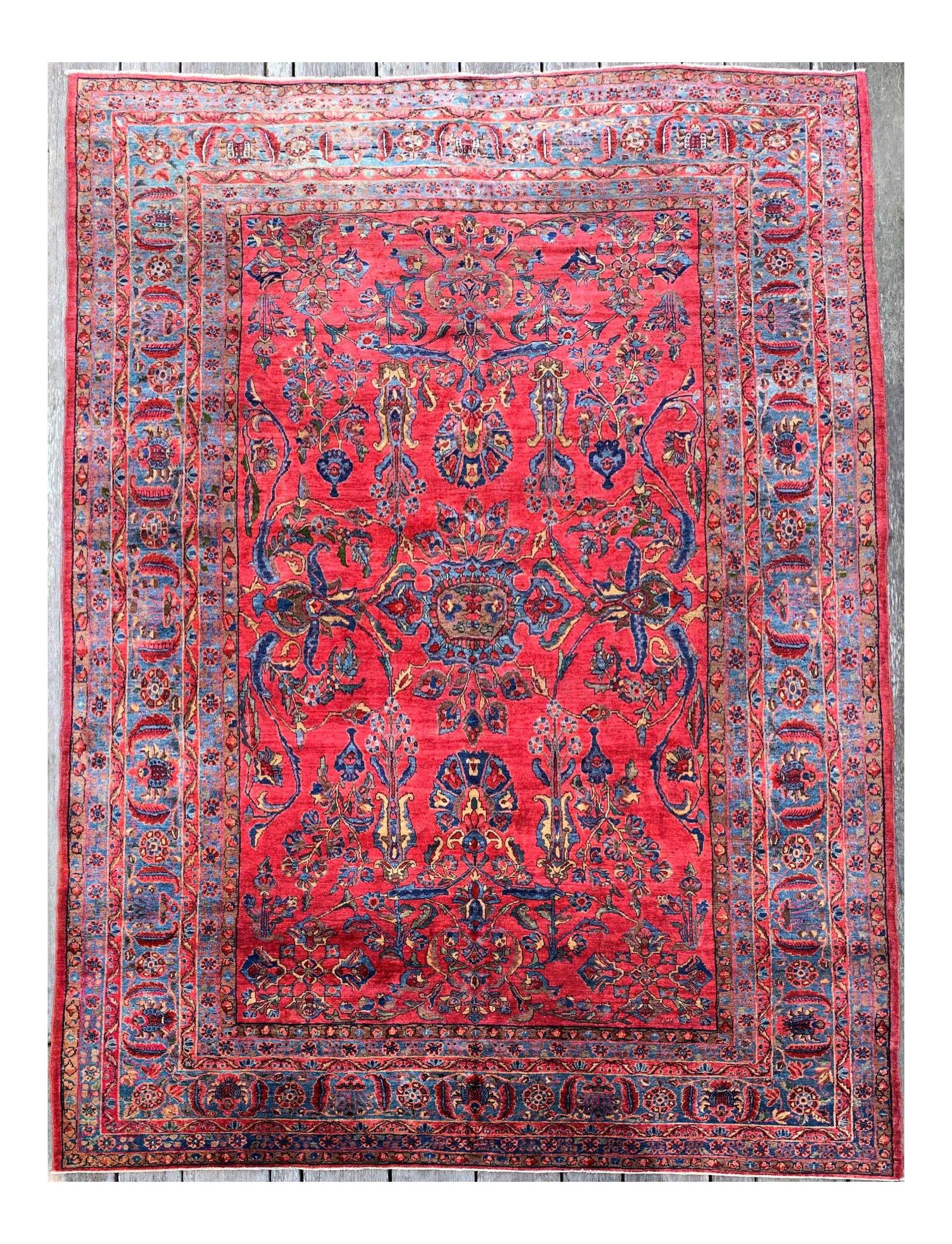 1920s Antique Persian Sarouk Rug 9 3 11 4 Rugs Persian Carpet Patterned Carpet