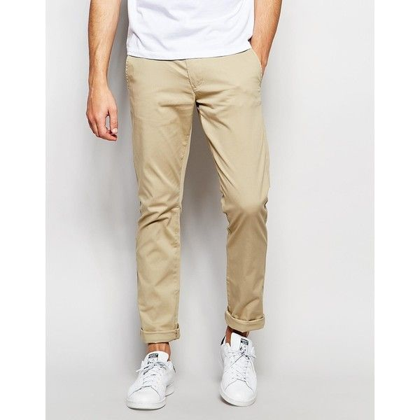 Selected Homme Mens Chinos Slim Fit Stretch Trousers Casual Cotton Chino Pants