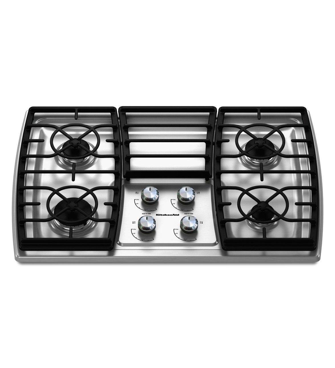 Kitchenaid 30 Inch 4 Burner Gas Cooktop Architect Series Ii Gas Cooktop Cooktop Kitchen Aid