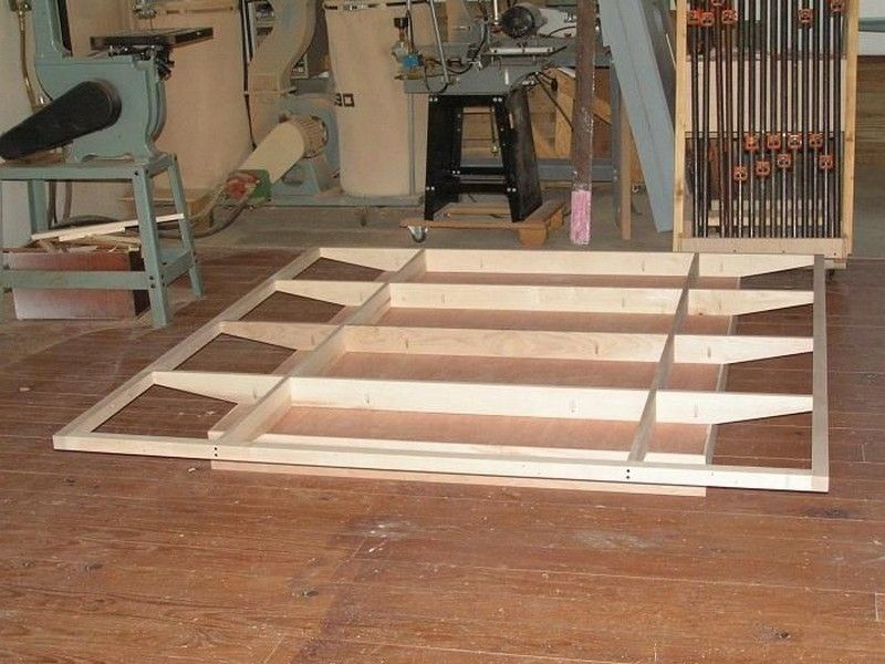 Floating bed frame plans furniture pinterest for Suspended bed plans