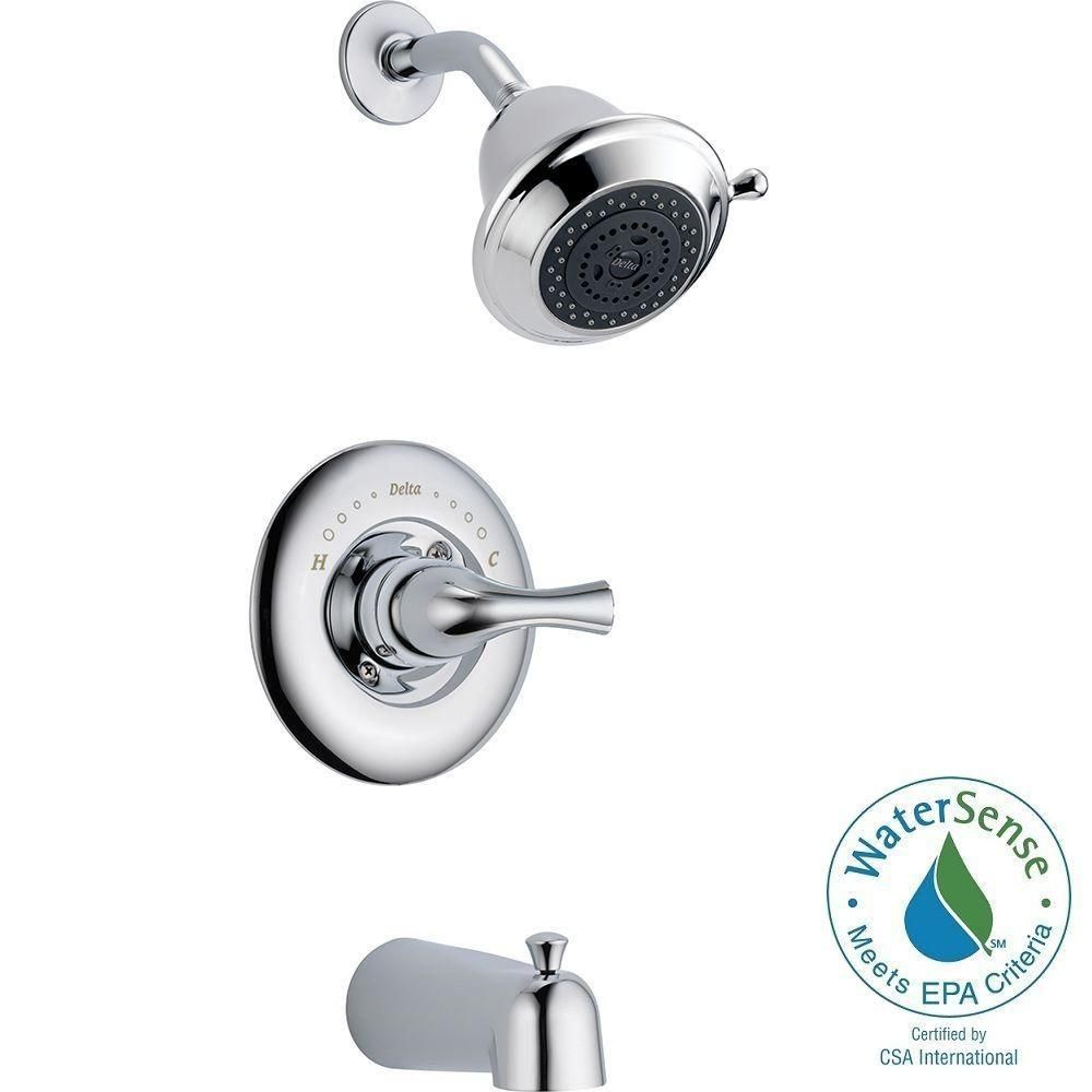 Delta Neo Style 3 Handle Tub And Shower Faucet Lever In Chrome H15 Tub And Shower Faucets Faucet Handles Shower Faucet
