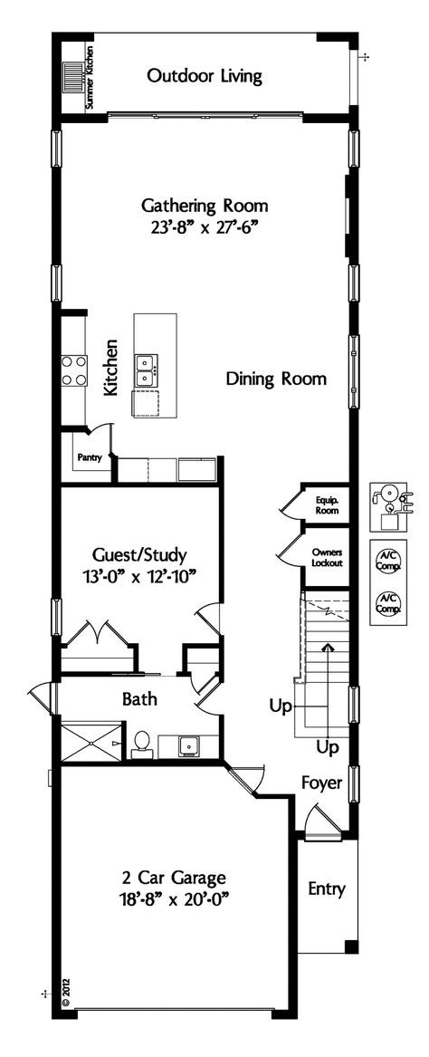 41 ideas house plans narrow lot loft for 2019 narrow