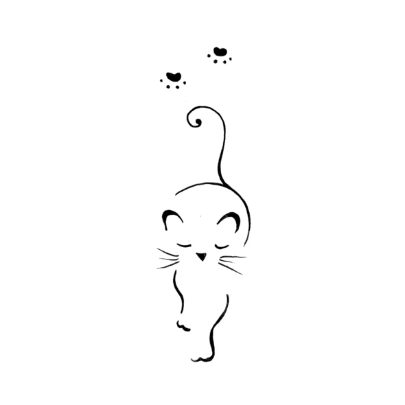 Sneaking Away Cat Tattoo Simple Cat Tattoo Designs Simple Cat Drawing