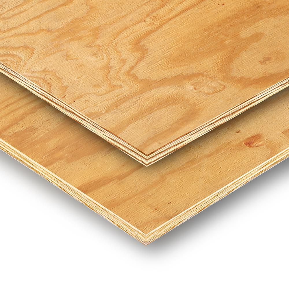 Unbranded 11 32 In X 4 Ft X 8 Ft Rtd Southern Yellow Pine Plywood Sheathing 112590 The Home Depot In 2020 Structural Plywood Pine Plywood Plywood