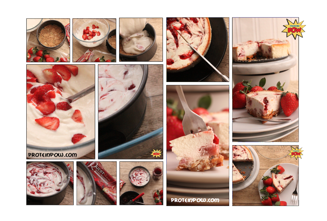 A Strawberry Protein Cheesecake on a Quest