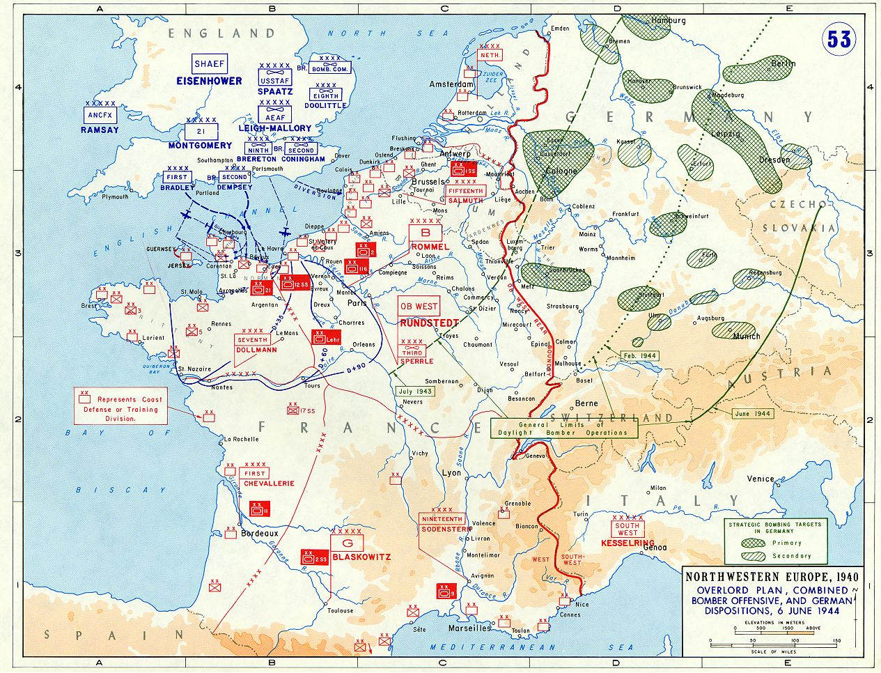 Overlord Plan, Combined Bomber Offensive And German