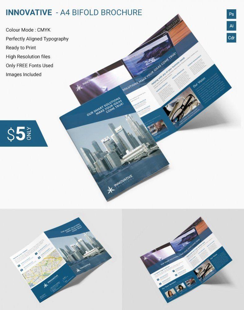 Bi Fold Brochure Template Free New Elegant Innovative A4 Bi Fold Brochure Template Free Brochure Template Bi Fold Brochure Brochure Design Template