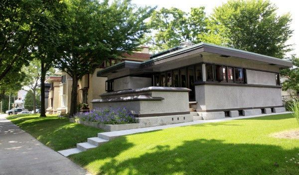 Frank Lloyd Wright Small Single Story 2 Bedroom Home Design Prairie School Courtyard House Plans Usonian House Bungalow House Plans