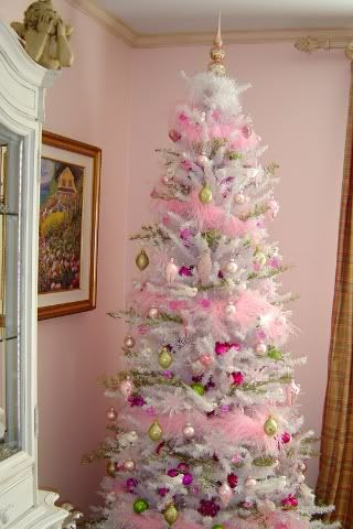 Decorated Christmas Tree Pink Árboles de navidad Pinterest