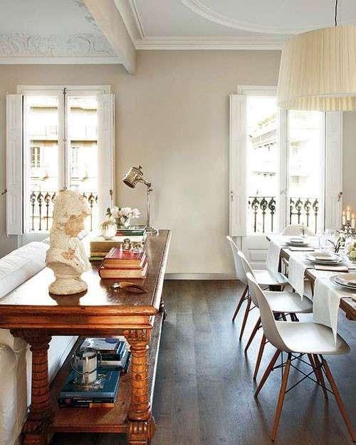 Arredare con mobili antichi e moderni nel 2019 dining for Arredamento antico e moderno