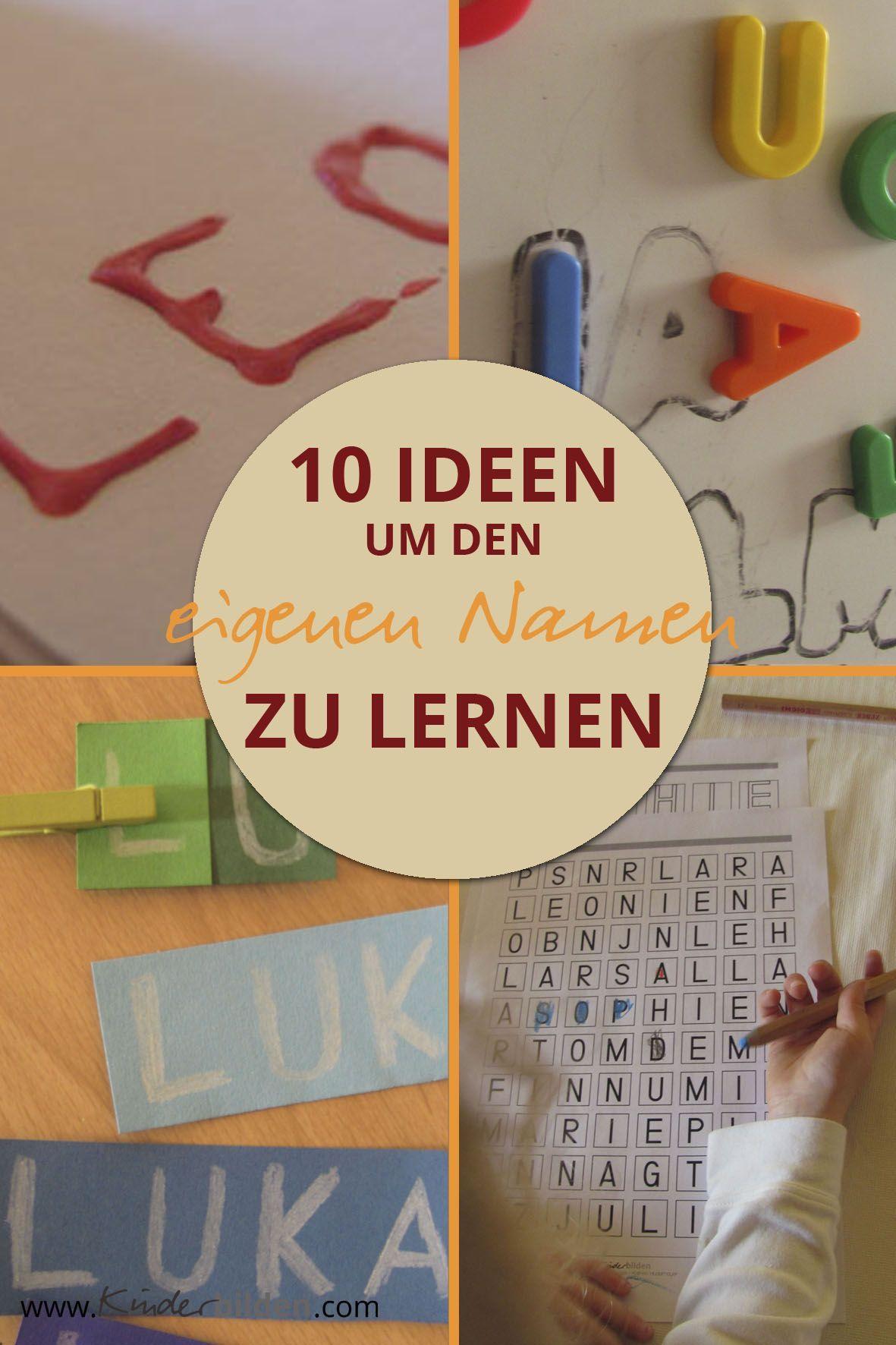 Namen lesen schreiben lernen Kinder Kindergarten Buchstaben Spiele Lernen Mehr Weiteres