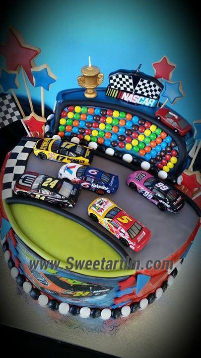Nascar Race Cake For Franco Sweet Art By Luisana Melet