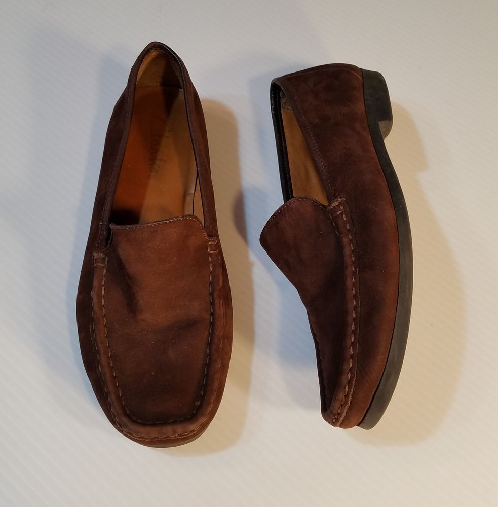 tímido Martin Luther King Junior Matón  Clarks Womens Brown Suede Leather Shoes Loafers Moccasins Flats size 8.5M # Clarks #Loafers | Suede leather shoes, Loafers, Dress shoes men