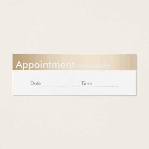 Appointment Reminder Classy Gold Border Appointment Reminder
