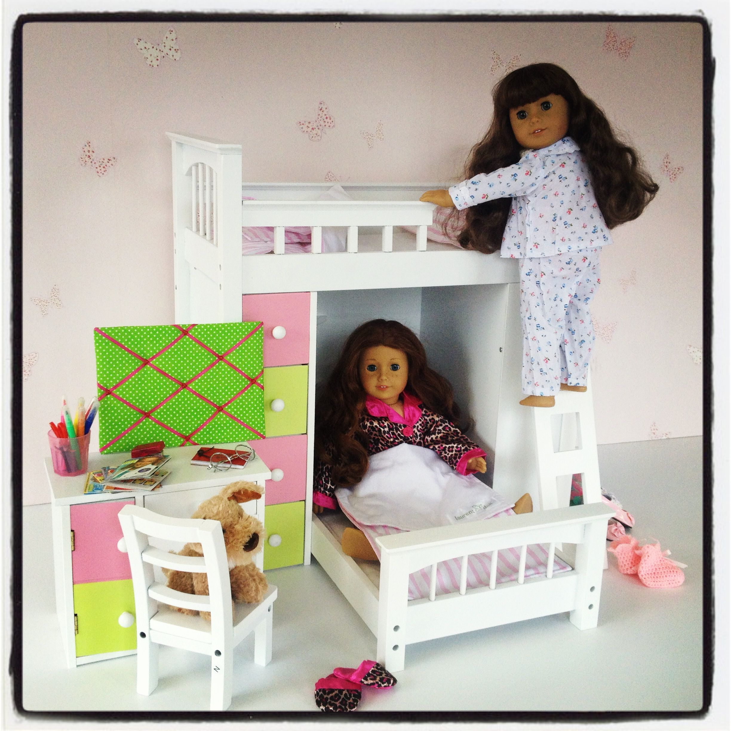 18inch Doll Furniture Now Available At Www.mydollboutique.co.uk Mollyu0027s New  Bedroom